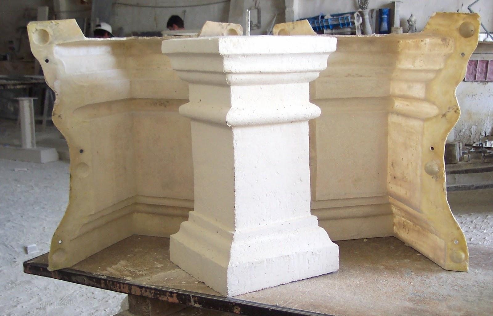 Moldes de silicona para balaustres alfredo bueno moldes - Balaustres de piedra ...